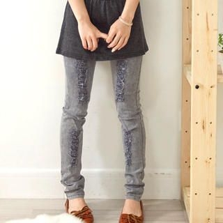 Buy Fashion Lady Distressed Skinny Jeans 1022431824