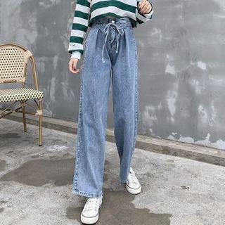 Drawstring | Straight | Jean | Leg