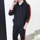 Set: Two-Tone Drawstring Hoodie + Sweatpants 1596