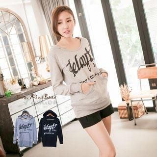 Lettering Hooded Top 1037977834