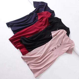 V-Neck Short-Sleeve Dress 1066019103