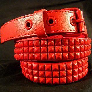 Buy Wizz Spirit Pyramid Stud Belt Red – One Size 1005178526