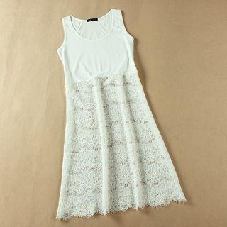 Lace Panel Tank Dress 1050056652