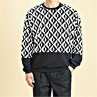 Color-Block Patterned Sweatshirt 1596