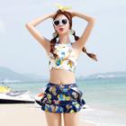 Set: Printed Tankini + Skirt 1596