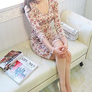 Buy Shebon Floral Printed Dress 1022568907