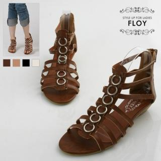 Buy FLOY SHOES Metallic Sandals 1023054377