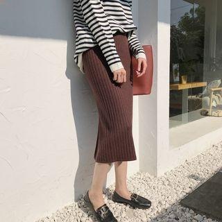 Midi Rib Knit Skirt 1064514775