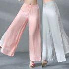 Layered Wide Leg Pants Pink - L от YesStyle.com INT