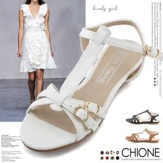 Picture of Chione T-Strap Sandals 1022936783 (Sandals, Chione Shoes, Korea Shoes, Womens Shoes, Womens Sandals)