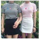Slit Mini Skirt 1596