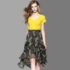 Set: Top + Printed Chiffon Skirt 1596