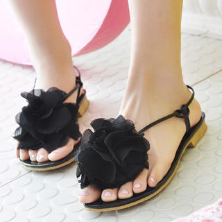 Buy KAWO Corsage Thong Sandals 1022895092
