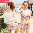 Set: Printed Bikini Top + Skirt + Cover 1596