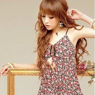 Buy Sylvia Sleeveless Lace-Hem Floral Print Dress 1022903507