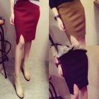 Slit-Front Pencil Skirt 1596
