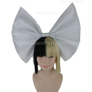 Blonde | Party | Small | White | Black | Size | Wig | Bow | One