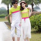 Couple Color-Block T-Shirt / Lettering Dress от YesStyle.com INT