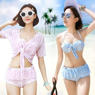 Set: Printed Frilled Bikini + Cover-up 1048140336