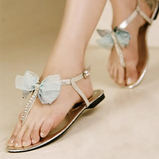 Buy Kvoll Bow Diamante Thong Sandals 1022990556