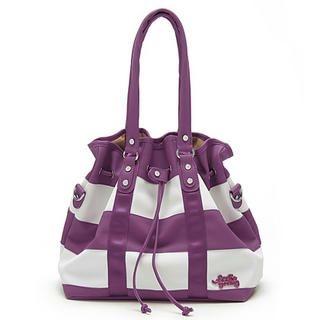 Buy Let's Fly Color-Block Handbag Purple – One Size 1022302551