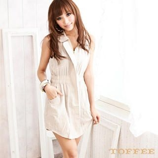 Buy TOFFEE Sleeveless Shirtdress 1022869534