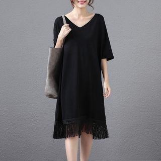 V-neck Short-Sleeve Dress 1058445709