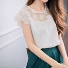 Short-Sleeve Lace-Trim Top 1596