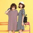 Short-Sleeve Striped T-Shirt Dress 1596