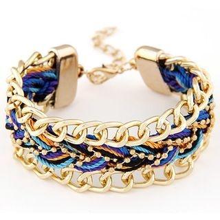 chain-accent-woven-bracelet