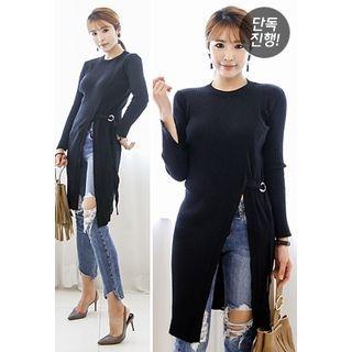 Cutout-Front Long Knit Top 1053943625
