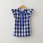 Kids Gingham Ribbon Top 1596