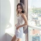 Distressed Cotton Shorts 1596