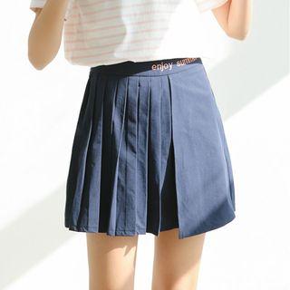 Miahynn Pleated A-Line Skirt