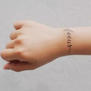 Letter Waterproof Temporary Tattoo