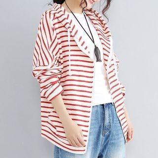 Striped Zip Hoodie 1062825554