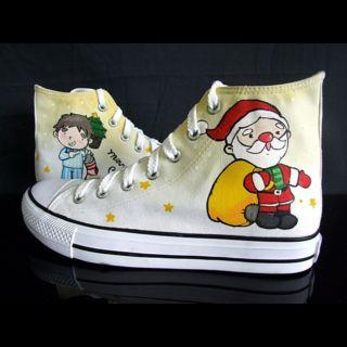 """Christmas Gifts"" High-Top Canvas Sneakers"