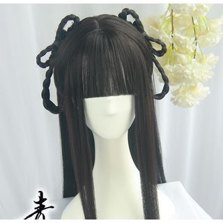 Traditional | Chinese | Black | Full | Long | Size | Wig | One