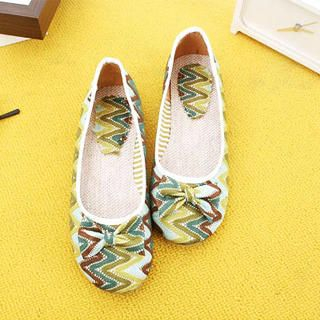Picture of KAWO Bow Herringbone Flats 1022786941 (Flat Shoes, KAWO Shoes, China Shoes, Womens Shoes, Womens Flat Shoes)