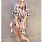 Pinstriped Bell-Sleeve Dress 1596