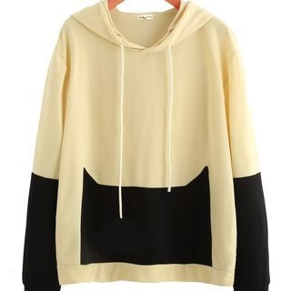 Color-Block Hooded Sweatshirt 1062729867