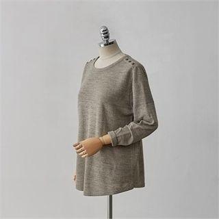 Drop-Shoulder Knit Top 1053270281