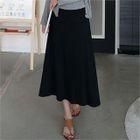 Band-Waist A-Line Long Skirt 1596