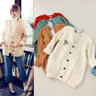 V-Neck Cable-Knit Cardigan 1596
