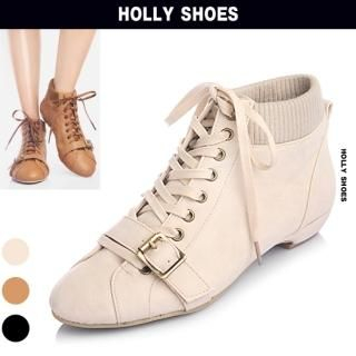 Buy Holly Shoes Ribbed Circumstance Lace-Up Sneakers 1023048923
