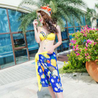 Set: Bikini + Pineapple Print Beach Cover-Up 1596