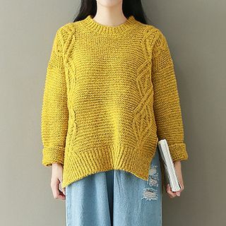 Ribbed Long-Sleeve Knit Sweater 1062381657