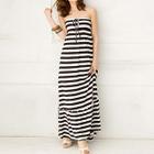 Strapless Stripe Dress 1596