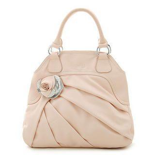 Picture of Biyibi Rose Accent Handbag Light Pink - One Size 1022927221 (Biyibi, Handbags, Taiwan Bags, Womens Bags, Womens Handbags)