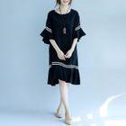 Short-Sleeve Ruffle Dress 1596